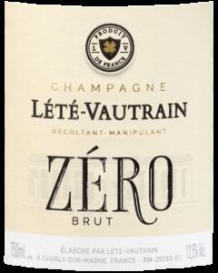 Etiquette de la cuvée Brut Zéro