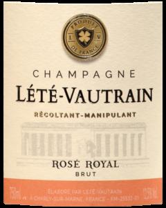 Etiquette de la cuvée Rosé Royal
